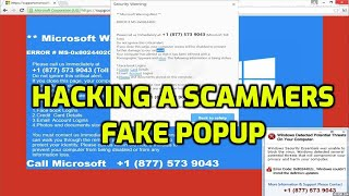 Hacking A  Tech Scammer's Fake POPUP!