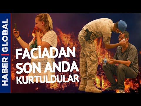 Faciadan Son Anda Kurtuldular! Manavgat'taki Yangından Çarpıcı Görüntüler