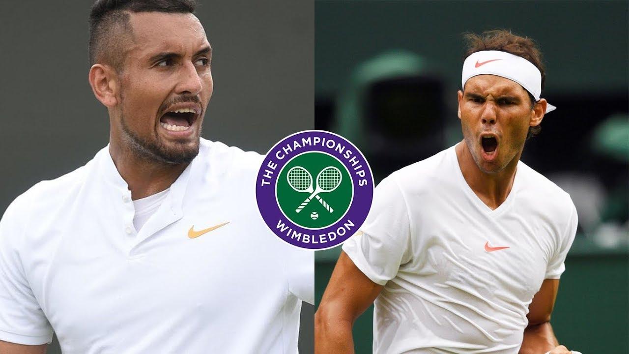 Nadal Vs Kyrgios Wimbledon 2019 Hd 60 Fps Tennis Elbow