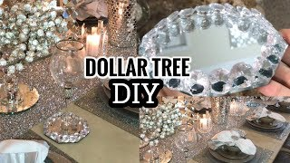 Dollar Tree DIY Home Decor Idea | Super Glam Winter Home Tour Tablescape! �