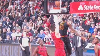 LeBron James CRAZY Dunk Over Jusuf Nurkic! Ends His Career! Cavaliers vs Trailblazers!