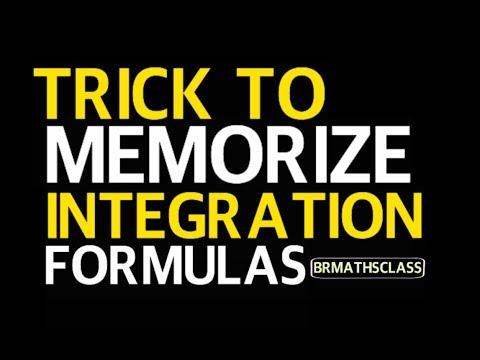 TRICK TO MEMORIZE INTEGRATION FORMULAS | CALCULUS | MATHS | INTEGRATION CLASS 12