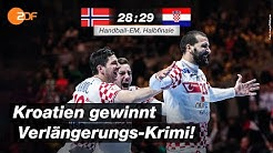 Halbfinale: Norwegen - Kroatien 28:29 - Highlights | Handball-EM 2020 - ZDF