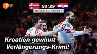 Halbfinale: Norwegen - Kroatien 28:29 - Highlights   Handball-EM 2020 - ZDF
