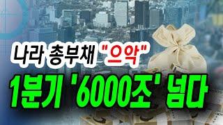 """[정완진TV] 나라 총부채 """"으악"""".…"""