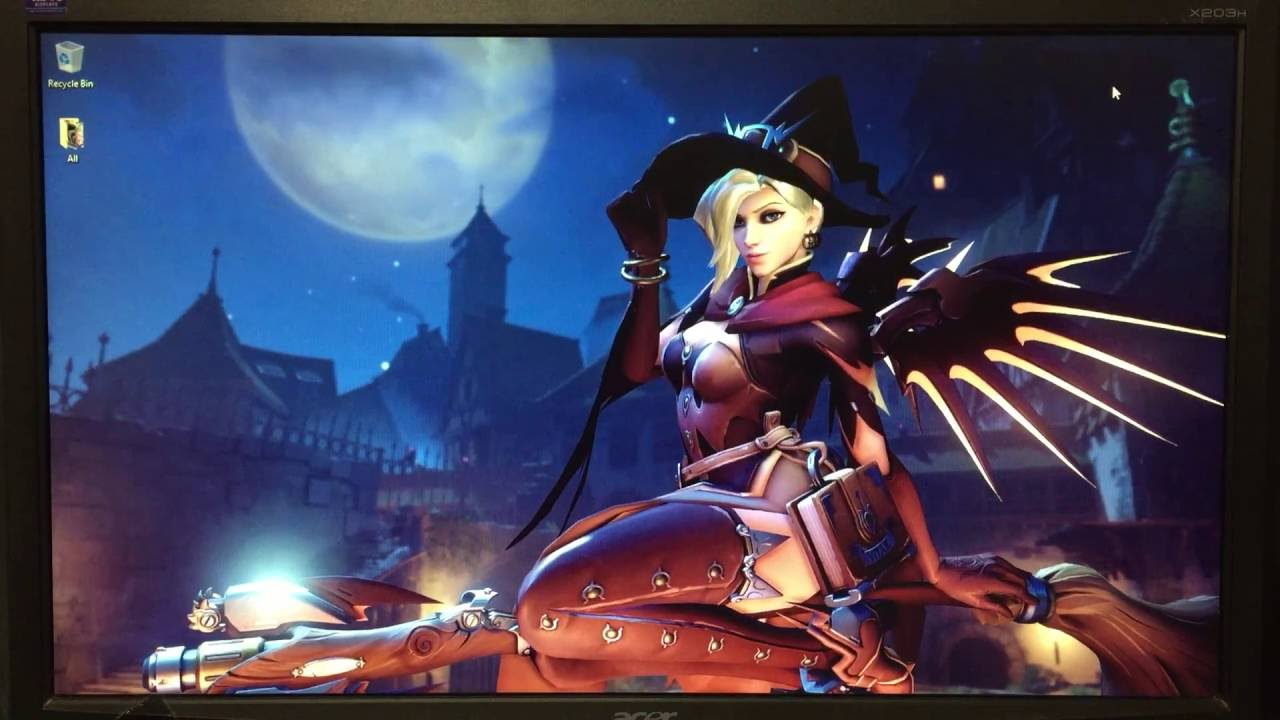 How To Get Live Witch Mercy Wallpaper - Windows 10 - YouTube