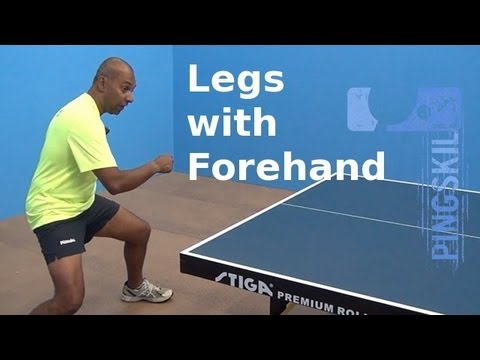 Using Your Legs When Playing Forehands In Table Tennis