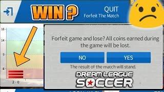 Win An Online Match By Quitting??? : Dream League Soccer 2016 Test