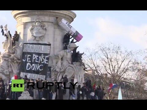 LIVE: Thousands honour Charlie Hebdo victims at Place de la Republique