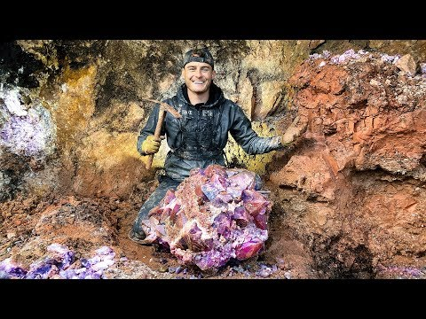 Found Rare $50,000 Amethyst Crystal While Digging at a Priva