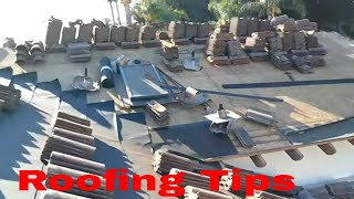 How to Re-Lay an Old tile roof ,Tile reset , roofing tips 101