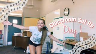 CLASSROOM SET UP DAY 1 | first year teacher