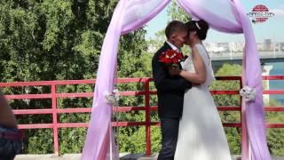 Свадьба c видом на Бугринский мост