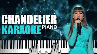 CHANDELIER - Aitana 🕯 Sia | Piano Karaoke + Partitura 🎶 OT 2017 🕯