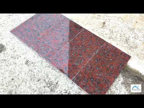 Rosso Santiago/Капустинский красный гранит. Полированные плиты.