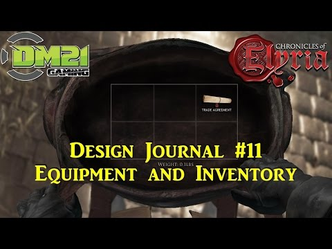 Chronicles of Elyria: Design Journal #11 - Equipment and Inventory