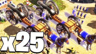 25 CANNONS VS THE WORLD - AGE OF EMPIRES 3