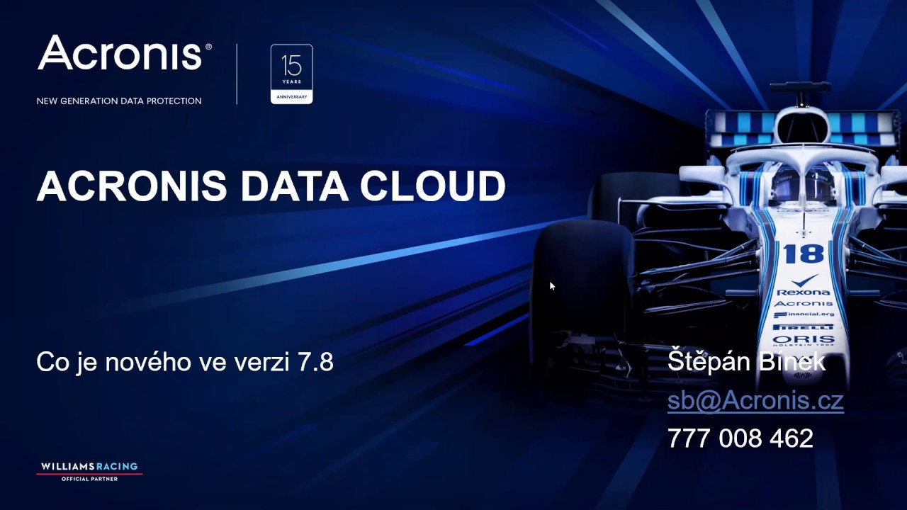 Novinky v Acronis Data Cloud v7 8