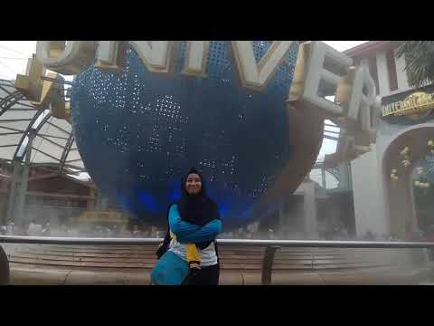 Honeymoon Journal : Dikira lagi Foto, padahal Video di Universal Studios Singapore 😅😅😅