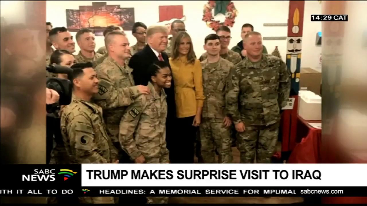 Trump Makes Surprise Visit to American Troops in Iraq