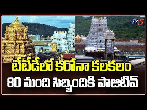 TTD on alert after Temple staff Test Positive for Covid 19   Tirupati   TV5 News