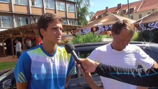 Vít Kopřiva a Jaroslav Pospíšil po výhře ve čtvrfinále čtyřhry na turnaji Futures v Pardubicích