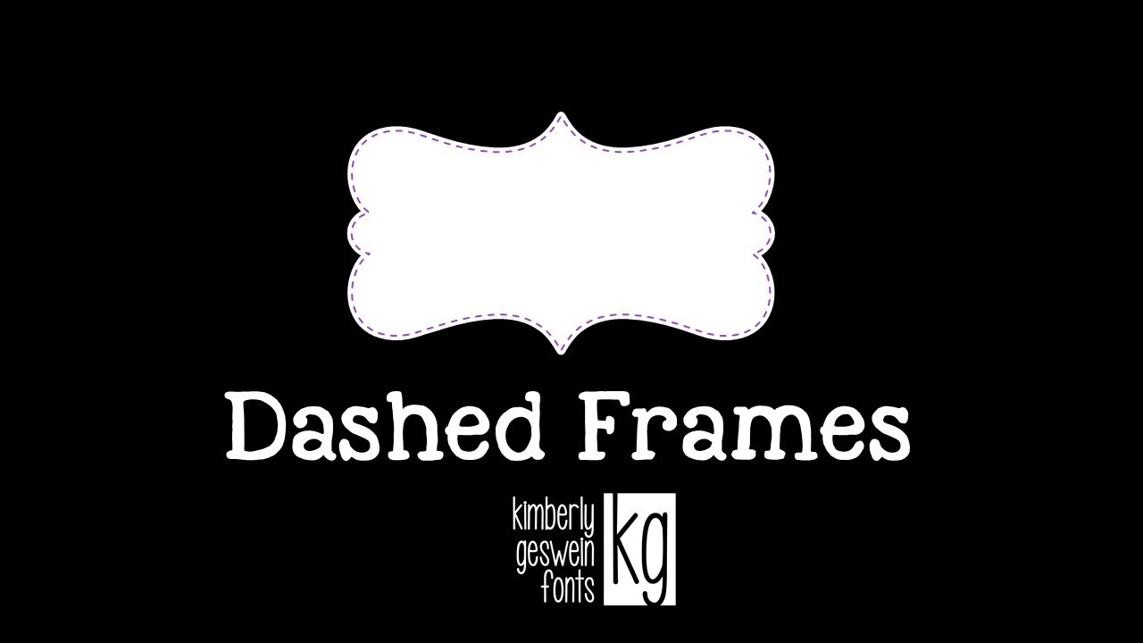 KG Fonts Tutorial: Dashed Frames in PowerPoint