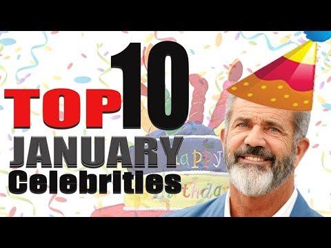 Top 10 January Celebs | January Celebrity Birthdays List