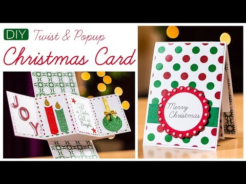 DIY Christmas Greeting Card | How to make Twist and Popup Card | Holiday Card