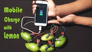 How to charge your phone with a lemon - charge your phone without a charger - Science Experiments
