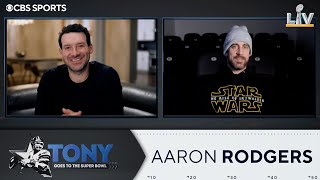 Tony Romo Interviews Aaron Rodgers | Super Bowl LV | CBS Sports HQ