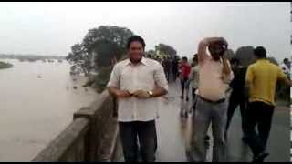 Hoshangabad Narmada River Over Flow Dt. 23.08.2013