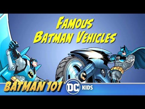 Famous Batman Vehicles   Batman 101   DC Kids