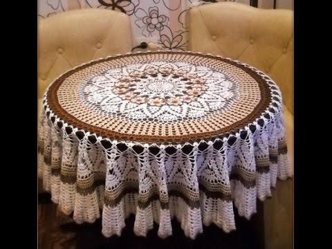 Роскошные скатерти на стол любой формы  Фото