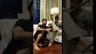 Mohanlal with Son Pranav at home