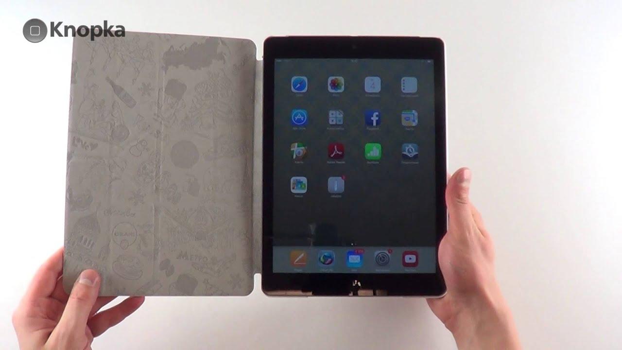 ОБЗОР: Фирменный Кожаный Чехол-Подставка Smart Cover для iPad Mini .