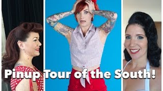 Pinup Hair & Makeup Tour of the South BTS with CHERRY DOLLFACE Thumbnail