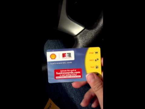 Shell fuel rewards card, save $.03 per gallon
