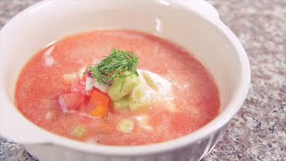 Watermelon Cucumber Gazpacho | Rule Of Yum Recipe