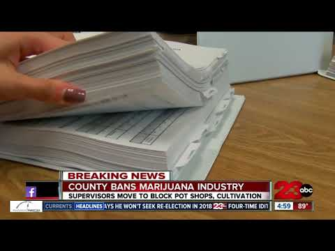 Kern County moves to ban marijuana cultivation, distribution