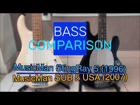 BASS COMPARISON- MusicMan StingRay 5 VS SUB USA 5
