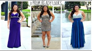 3 Prom Ready Looks! Prom Hair, Makeup, & Dress Ideas!