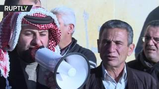 شاهد..مظاهرات بالأردن تطالب بإسقاط الحكومة