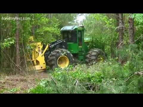 2013 John Deere 843K Fellerbuncher at Forestry First 050213