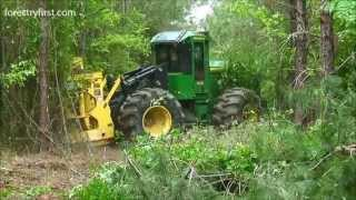 Repeat youtube video 2013 John Deere 843K Fellerbuncher at Forestry First 050213