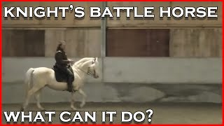 Medieval Horsemanship and how a knight might control his horse in battle.