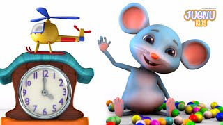 Hickory Dickory dock  - Jugnu Kids Rhymes - Nursery Rhymes for Kids