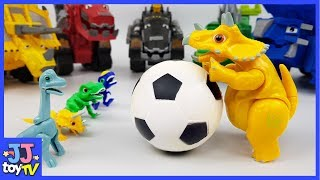 The Baby Dinosaurs Are In Danger. Dinotrux Help Me!! Dinosaurs Toy Video For Kids [Jjtoy Tv]