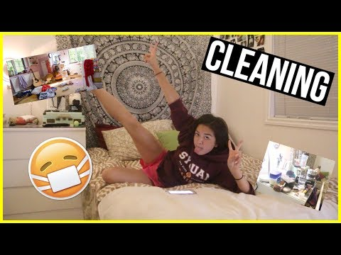 CLEANING MY DIRTY ROOM AT 2AM | MAIPHAMMY