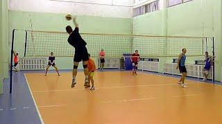 Обучение волейболу. Упражнения на отработку нападающего удара и приема через сетку